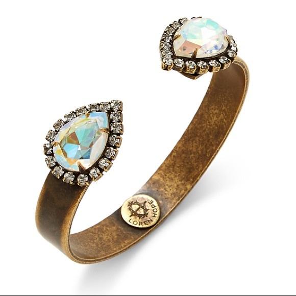 Loren Hope Iridescent Sarra Cuff Bracelet